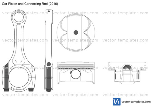 Car Piston and Connecting Rod