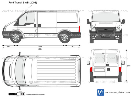 Templates Cars Ford Transit SWB