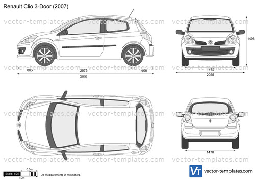 templates - cars - renault