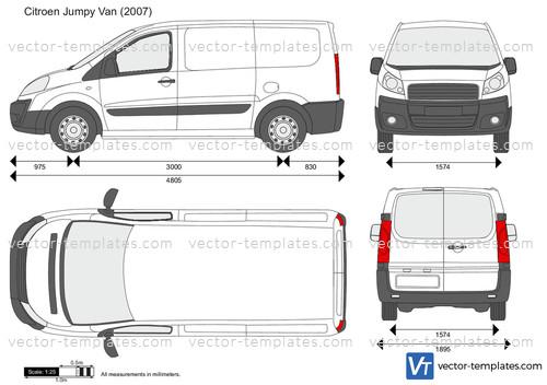 Templates Cars Citroen Citroen Jumpy Van
