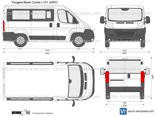 Templates Cars Peugeot Peugeot Boxer Combi L1h1
