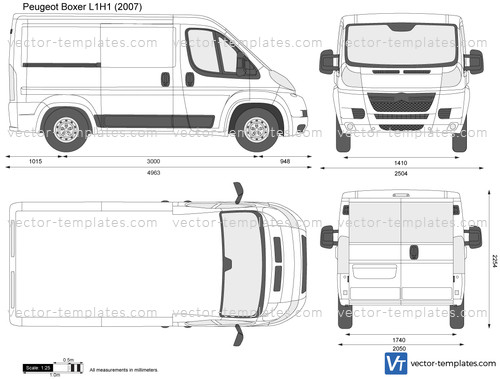 templates cars peugeot peugeot boxer l1h1. Black Bedroom Furniture Sets. Home Design Ideas