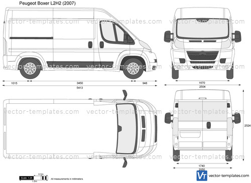 templates cars peugeot peugeot boxer l2h2. Black Bedroom Furniture Sets. Home Design Ideas