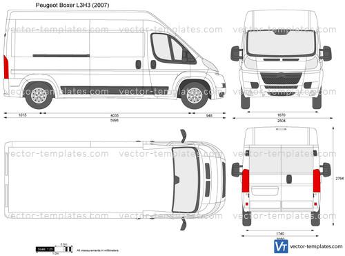 Templates Cars Peugeot Peugeot Boxer L3h3