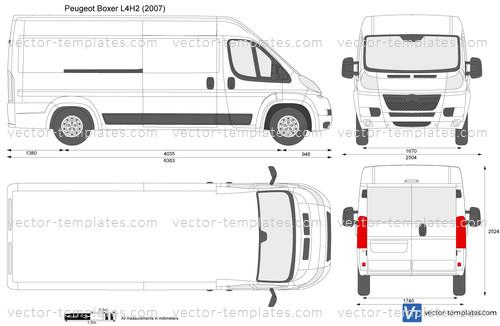 Templates Cars Peugeot Peugeot Boxer L4h2