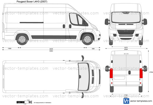templates cars peugeot peugeot boxer l4h3. Black Bedroom Furniture Sets. Home Design Ideas