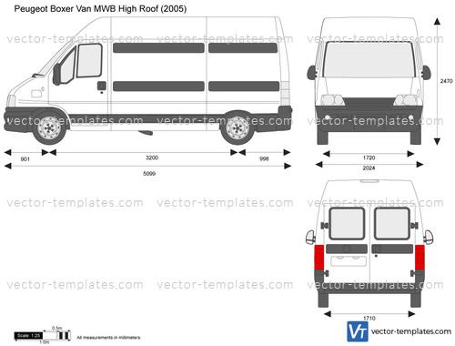 templates cars peugeot peugeot boxer van mwb high roof. Black Bedroom Furniture Sets. Home Design Ideas