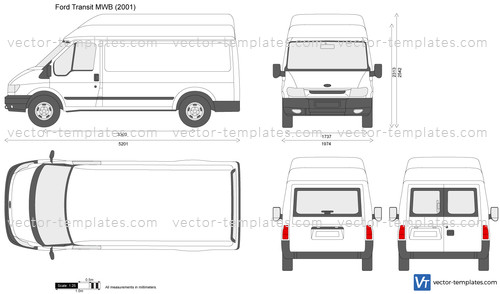 Ford Transit Connect Passenger Van >> Templates - Cars - Ford - Ford Transit MWB