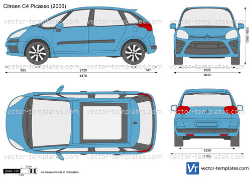 templates cars citroen citroen c4 picasso. Black Bedroom Furniture Sets. Home Design Ideas