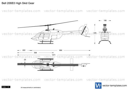 Bell 206B3 High Skid Gear