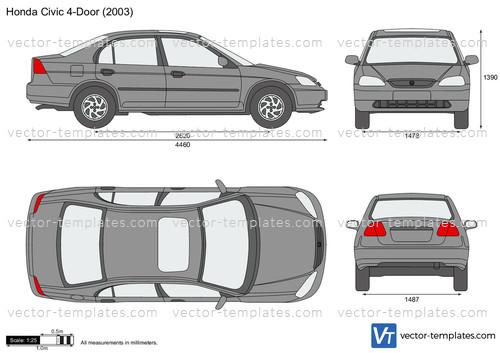 2001 Dodge Ram 1500 Headlights >> Templates - Cars - Honda - Honda Civic 4-Door