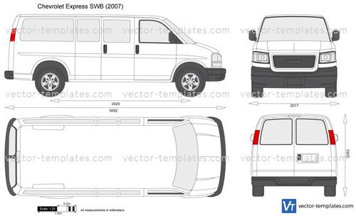 Templates Cars Chevrolet Chevrolet Express Swb