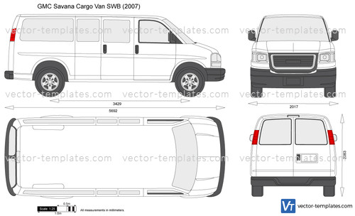 Templates - Cars - GMC - GMC Savana Cargo Van SWB