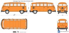 Volkswagen Type 2 Micro Bus 23-Window