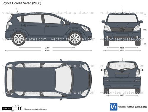 templates cars toyota toyota corolla verso. Black Bedroom Furniture Sets. Home Design Ideas