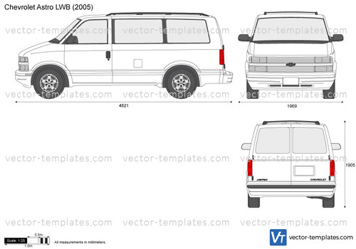 Templates - Cars - Chevrolet - Chevrolet Astro LWB