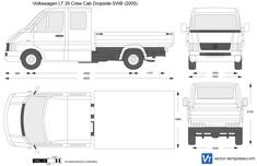 Volkswagen LT 35 Crew Cab Dropside SWB