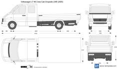 Volkswagen LT 46 Crew Cab Dropside LWB