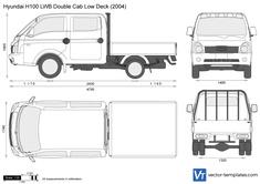 Hyundai H100 LWB Double Cab Low Deck