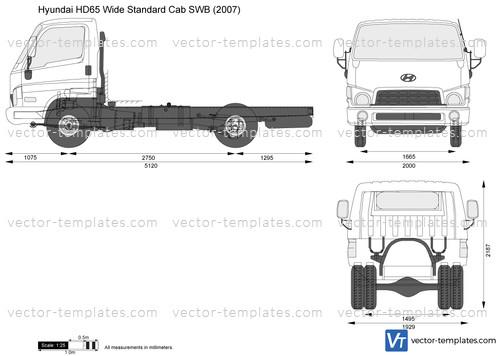 Hyundai HD65 Wide Standard Cab SWB