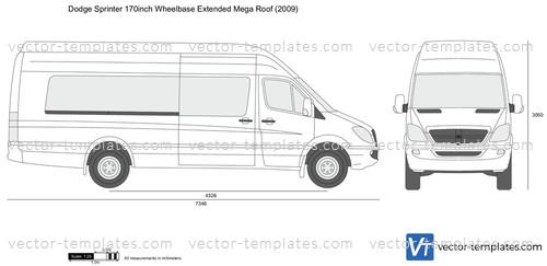 Dodge Sprinter 170inch Wheelbase Extended Mega Roof