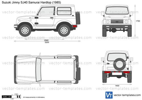 templates cars suzuki suzuki jimny sj40 samurai hardtop. Black Bedroom Furniture Sets. Home Design Ideas