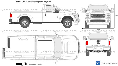 2015 Ford F 150 Regular Cab >> Templates - Cars - Ford - Ford F-250 Super Duty Regular Cab LWB 137'