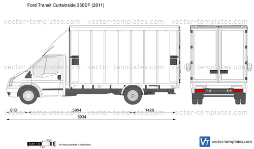 templates cars ford ford transit curtainside ef