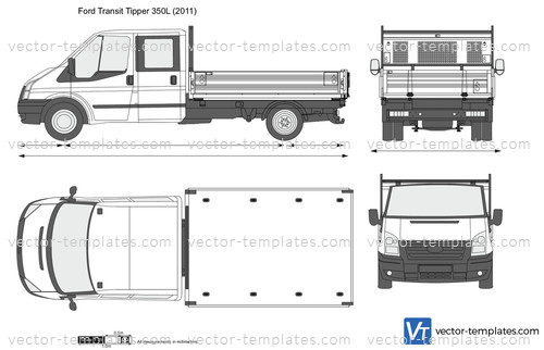 d7b4074b380708 Templates - Cars - Ford - Ford Transit Tipper 350L