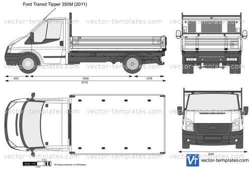 Templates Cars Ford Ford Transit Tipper 350m