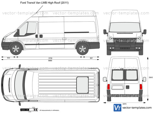 Templates Cars Ford Ford Transit Van Lwb High Roof