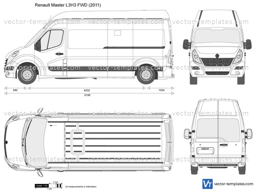 templates cars renault renault master l3h3 fwd. Black Bedroom Furniture Sets. Home Design Ideas