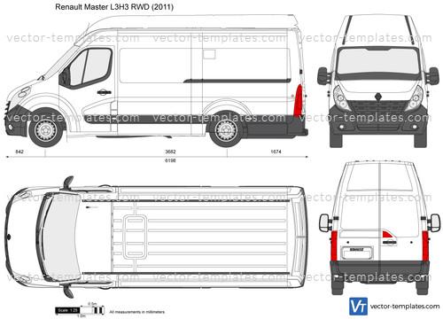 templates cars renault renault master l3h3 rwd. Black Bedroom Furniture Sets. Home Design Ideas