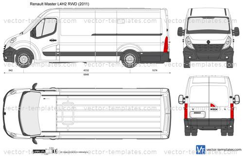 templates cars renault renault master l4h2 rwd. Black Bedroom Furniture Sets. Home Design Ideas
