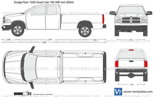 2012 Dodge Ram 1500 Headlights >> Templates - Cars - Dodge - Dodge Ram 1500 Quad Cab 160 WB 4x4
