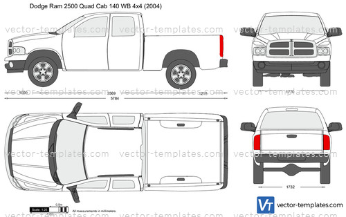Templates Cars Dodge Dodge Ram 2500 Quad Cab 140 Wb 4x4