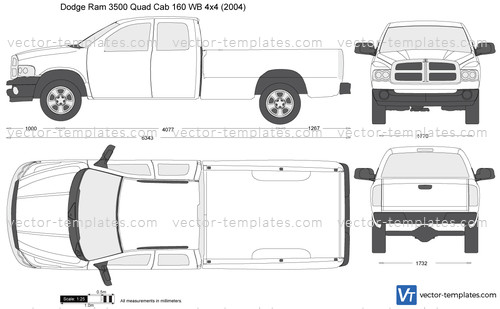 Templates Cars Dodge Dodge Ram 3500 Quad Cab 160 Wb 4x4