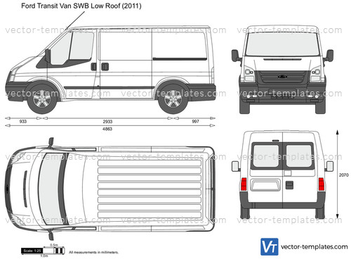 Templates Cars Ford Ford Transit Van Swb Low Roof