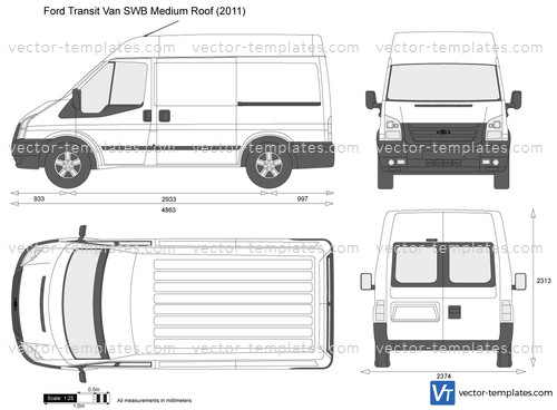 Templates Cars Ford Ford Transit Van Swb Medium Roof