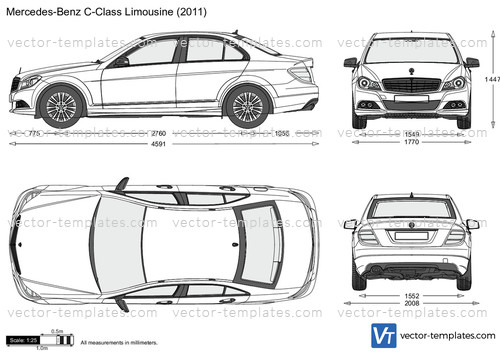 templates cars mercedes benz mercedes benz c class limousine w204. Black Bedroom Furniture Sets. Home Design Ideas