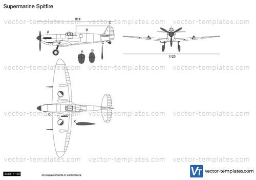 Templates - Ww2 Airplanes - Supermarine
