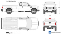 Ford F-250 Super Duty SuperCab LWB 158