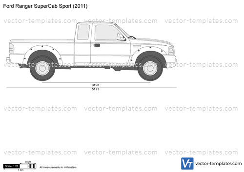 Templates Cars Ford Ford Ranger Supercab Sport
