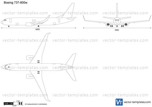 Templates - Modern airplanes - Boeing - Boeing 737-800w