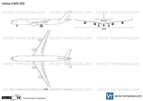 templates modern airplanes airbus airbus a340 300Airplane Diagram Diagram Of Airbus A340300 #5