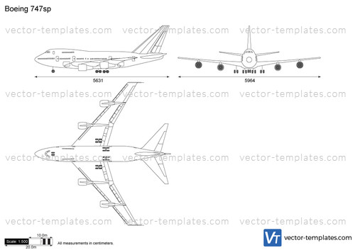 templates - modern airplanes - boeing
