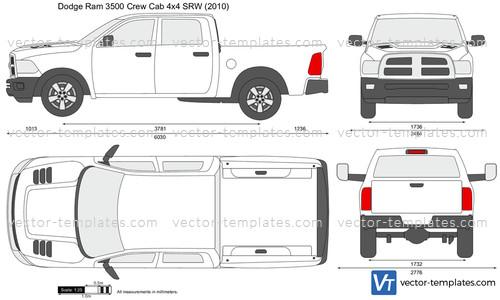 Templates Cars Dodge Dodge Ram 3500 Crew Cab 4x4 Srw