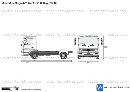 Mercedes-Benz Atego 4x2 Tractor 28000kg