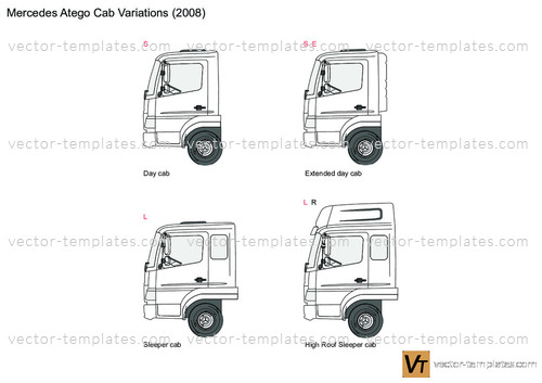 Mercedes-Benz Atego Cab Variations