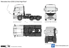Mercedes-Benz Axor 2535 LS 6x2 High Roof